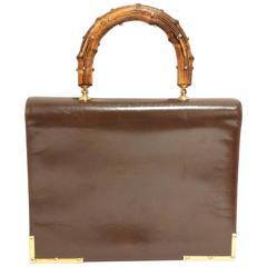 1950s Gorgeous Susan Gail Handbag with Embellished Wood Handle