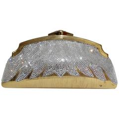 1980's Judith Leiber Minaudiere Crystal Flame Clutch