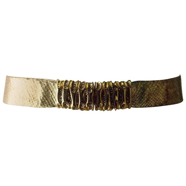 80s Judith Leiber Snake Skin Belt