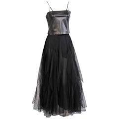 Genny Black Leather Camisole, Rena Lange Black Tulle Ballerina Skirt