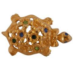 Avon Gold tone Turtle Brooch