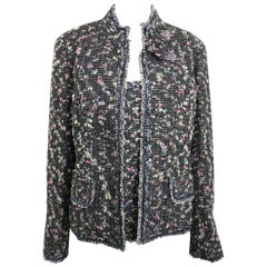 2004 Chanel Multi Coloured Tweed Wool Jacket and Sleeves Top Ensemble