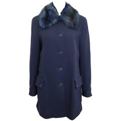 Iceberg Navy with Blue/Black Fur Collar Coat