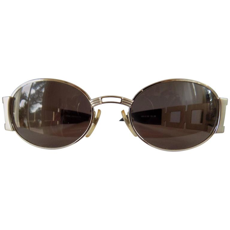 Fendi Black Silver Sunglasses For Sale