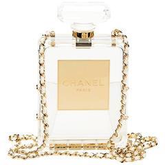 2014 Chanel Clear Plexiglass No. 5 Perfume Bottle Bag