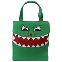Lovely Moschino Cheap and Chic Dino Green Tote Bag