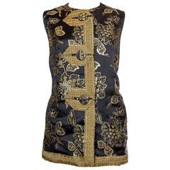 1960s Mr Blackwell Custom 18th Century inspired Vest