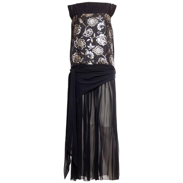1920s inspired Chiffon Gown by Harriet Selling