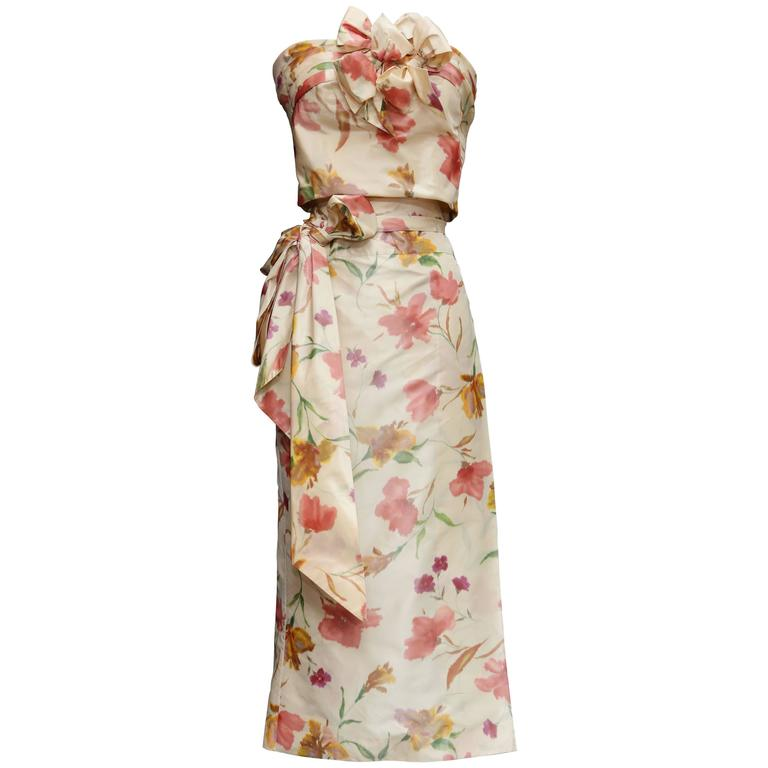 2008 Christian Dior Dress Ensemble in Floral Print