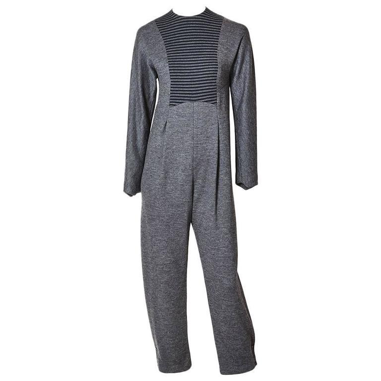 Geoffrey Beene Wool Knit Jumpsuit