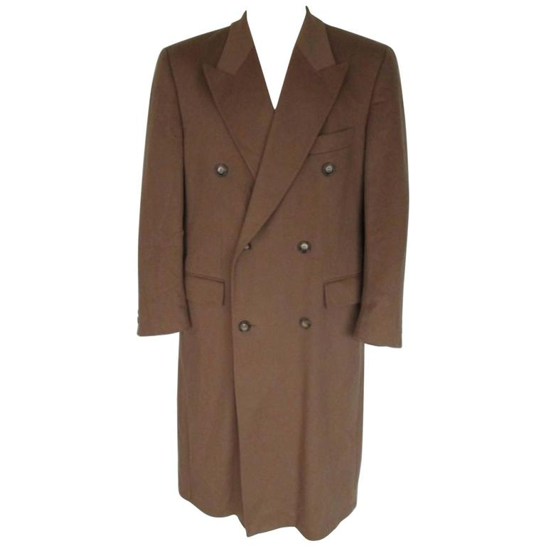 pierre cardin men's cashmere/ wool coat For Sale at 1stdibs