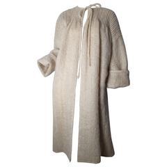 1970s Geoffrey Beene Sweater Coat with Pleating