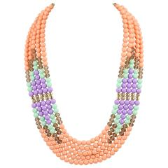 EMILIO PUCCI c.1980's Coppola e Toppo Bead Multi Strand Collar Necklace NOS
