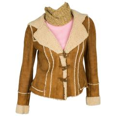 Chanel Lammy Coat - brown/gold