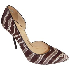 Gucci Noah Animal-Print Pony Hair And Leather D'orsay Pumps