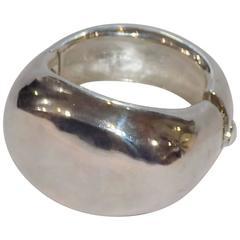 Bill Schiffer 925 Massive sterling silver Dome cuff bracelet