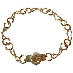 Gucci Vintage metal GG Logo link belt