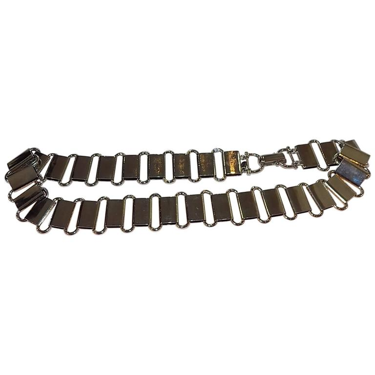 Paco Rabanne Vintage siver links metal belt