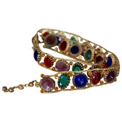 1960s Multicolored Jeweled belt by Schreiner of New York