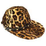 Gianni Versace Faux Leopard Medusa Hat, 1990s