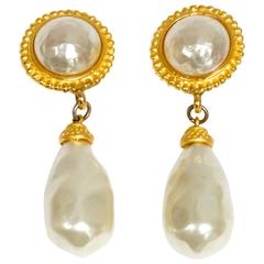 1990s Deanna Hamro Pearl Earrings
