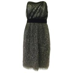 1970s Bill Blass Sequin Tassel Cocktail Dress