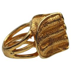 1960s Kenneth J Lane Sculptural Cocktail Ring