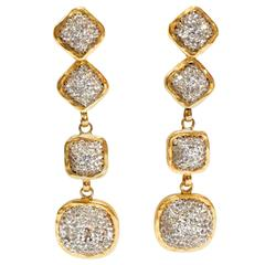 Glamorous 1990s Deanna Hamro Diamente Swarovski Earrings