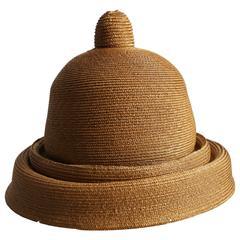 Vivienne Westwood 'Mini-Crini' straw bowler hat, circa 1985
