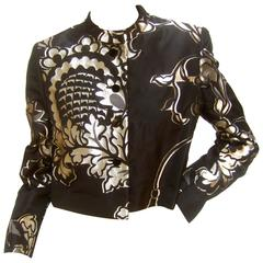 Bill Blass for Neiman Marcus Black & Gold Brocade Bolero