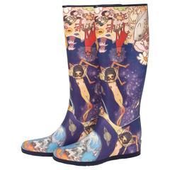 Issey Miyake Aya Takano Whimsical Waterproof Boots