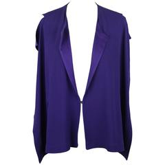 VIONNET Purple Silky Fabric SLEEVELESS BLOUSE Size 40