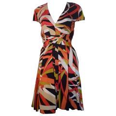 Issa London Silk Jersey Printed Dress 8 UK