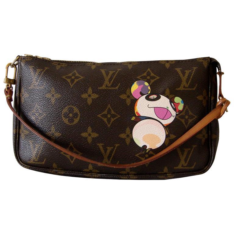 Louis Vuitton Takashi Murakami Panda Bag Pochette Rare 2004