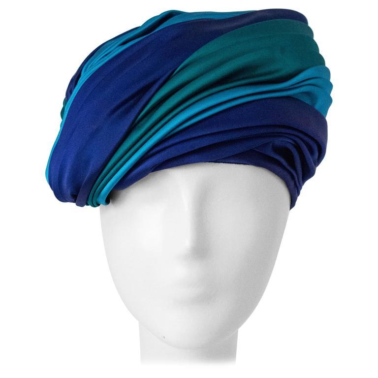 60s Christian Dior Silk Satin Turban  For Sale