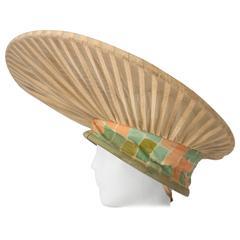 40s Avantgarde Pancake Hat