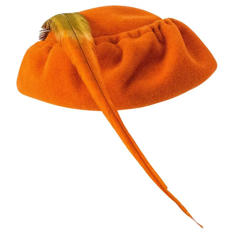 50s Ransohoff Wool Felt Hat Made in Italy For Sale