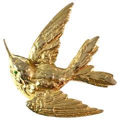 1950s Cadoro Hummingbird Brooch