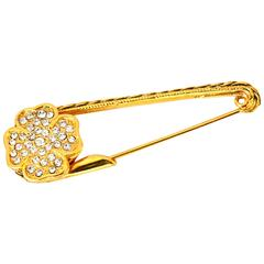 1984 Chanel Clover Safety Pin