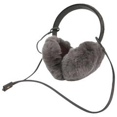 Gucci NEW Monogram Logo Fur Men's Women's Unisex Ear Muffs in Box