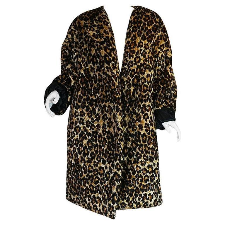 1980s Patrick Kelly Leopard Print Sleeping Blanket Coat 1