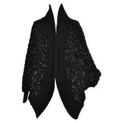 Catherine Malandrino Black Lightweight Cocoon Open Jacket