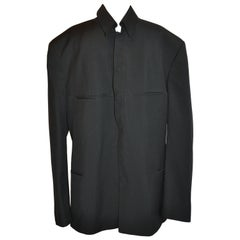 Thierry Mugler Men's Black Snap-Front Evening Jacket