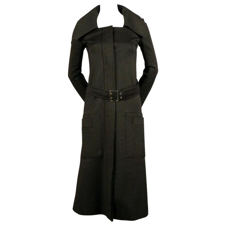 1970's SONIA RYKIEL black fitted trench