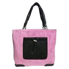 Prada Pink Suede Handbag