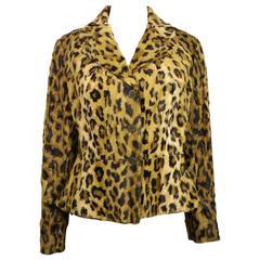 Blumarine by Anna Molinari Faux Fur Leopard Jacket