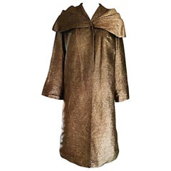 Gorgeous 1950s Vintage Bronze Golden 50s Swing Opera Jacket Coat Avant Garde