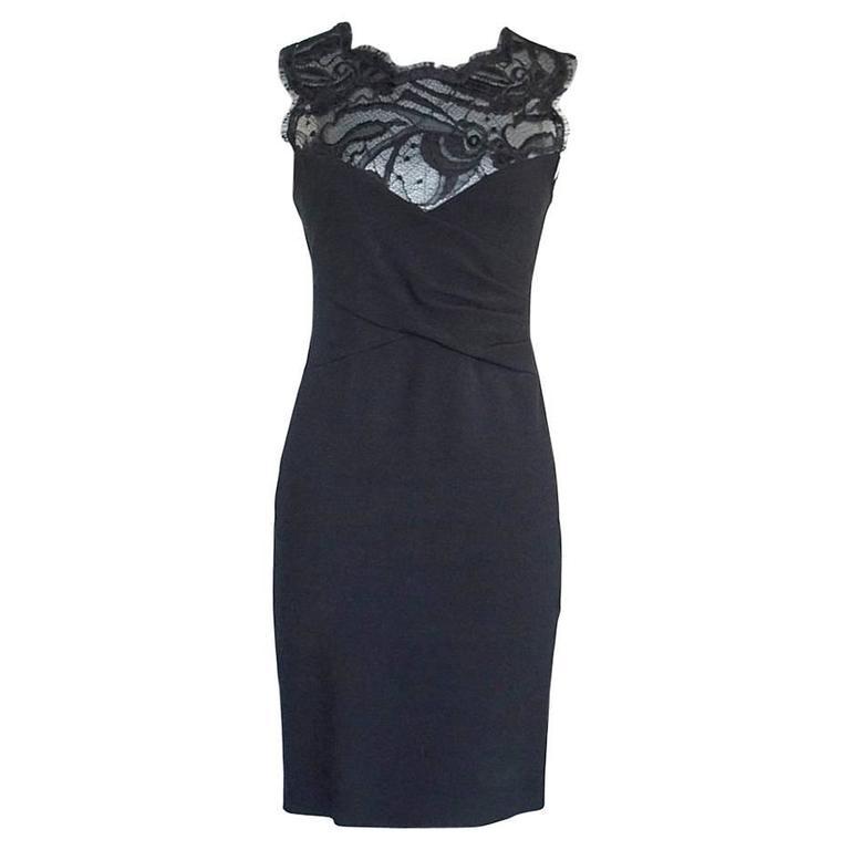 Emilio Pucci Lace Neckline Rear Zipper Dress  For Sale