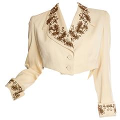 Gorgeous Beaded 1940s Jacket