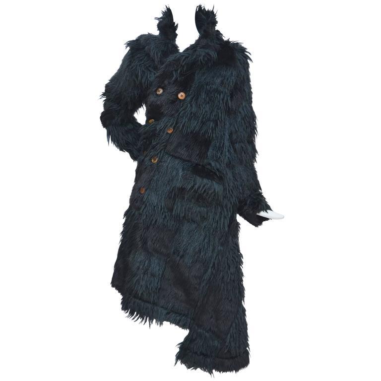 Comme Des Garcons  Faux  Fur Coat AD '02  Metropolitan  Museum NY  Mint For Sale